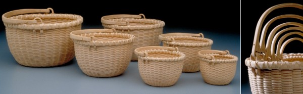 Miniature Nesting Baskets with Double-Swing Handles