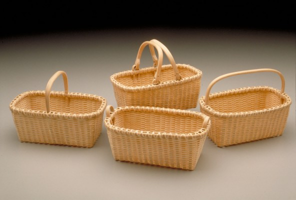 Miniature Beveled Baskets