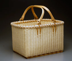 Rectangular Basket with Double Swing Handle